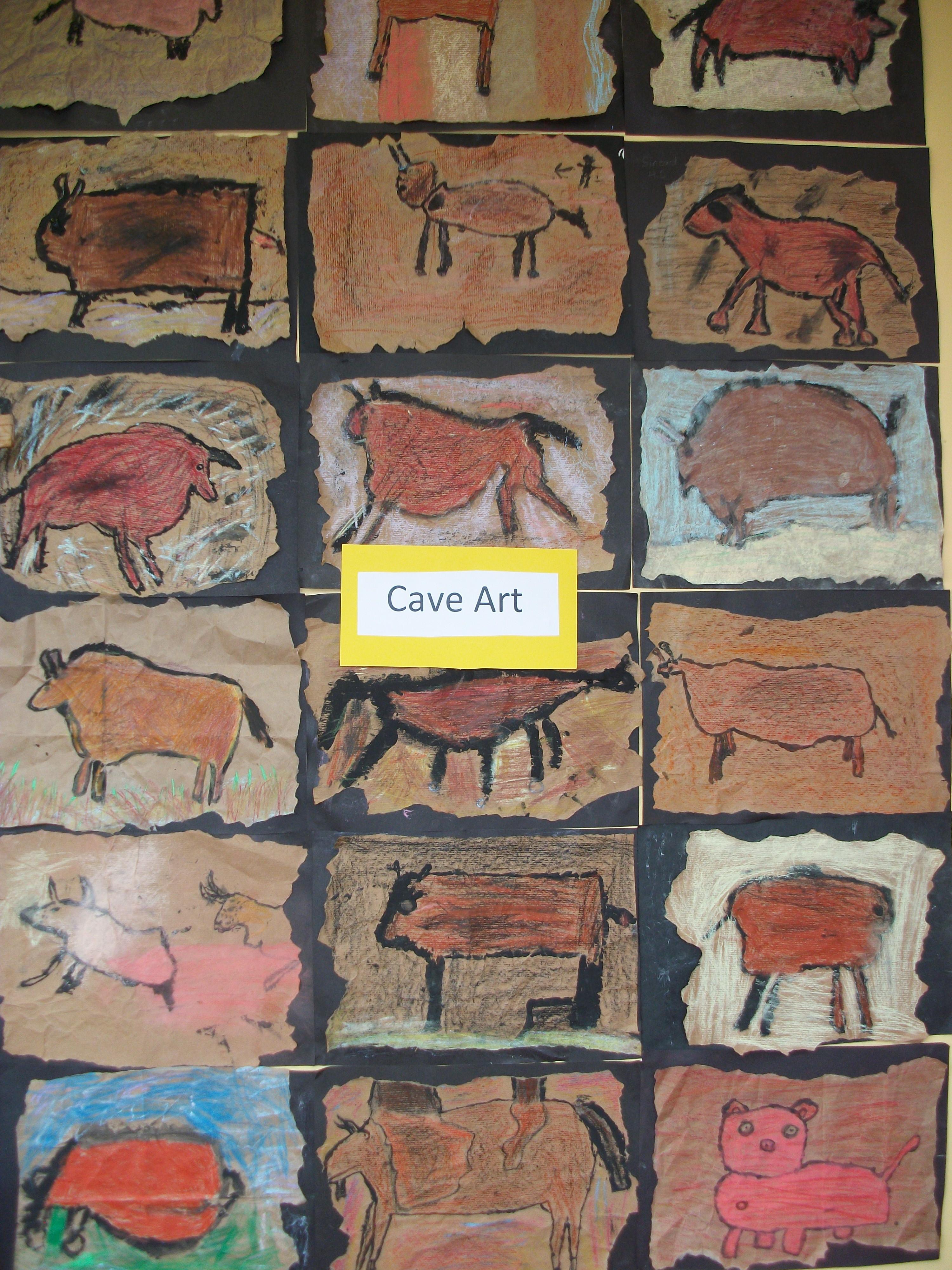 Caveman Art Ks2 : Cave art rang a trí